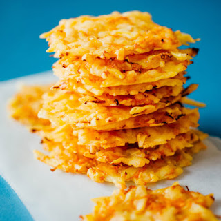 Gouda Cheese Crisps with Carrots