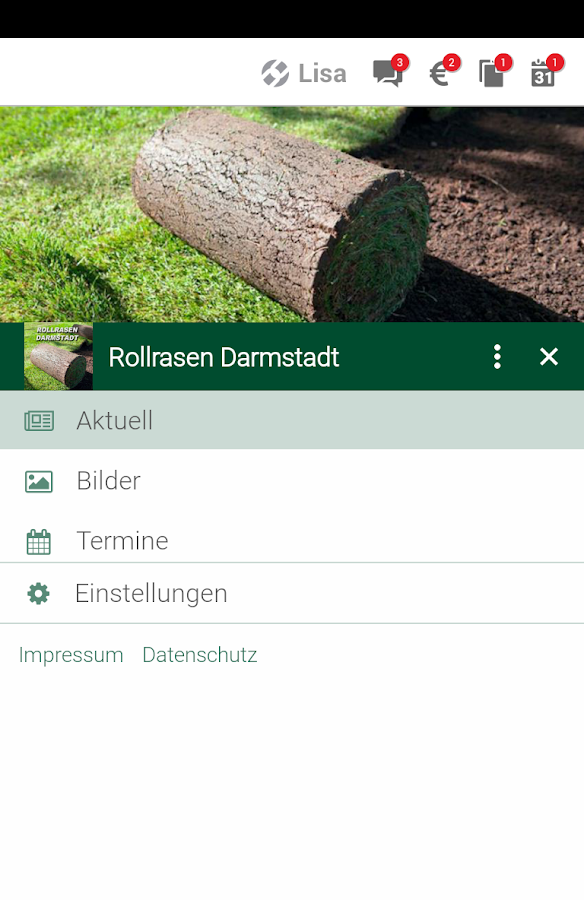 Rollrasen Darmstadt- screenshot