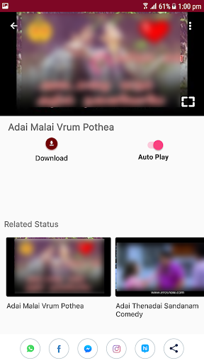 Tamil Video Status Songs for WhatsApp 9.0 screenshots 3