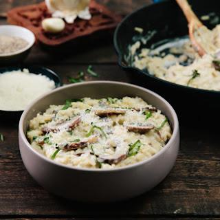 Creamy Mushroom Risotto.