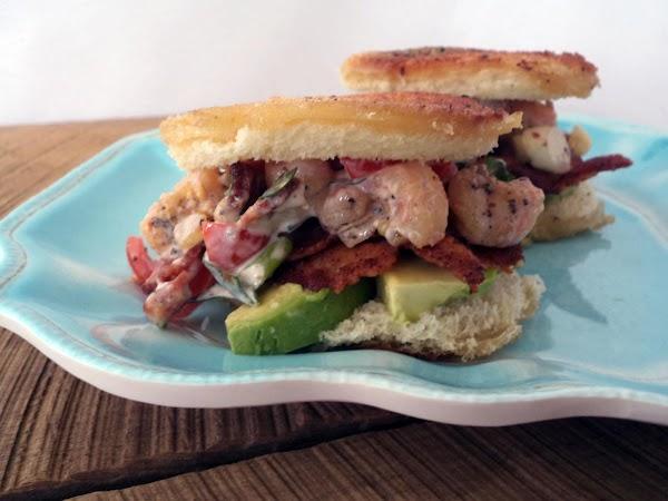 Bacon Shrimp & Tomato Salad On Garlic Bacon Toast Recipe ...