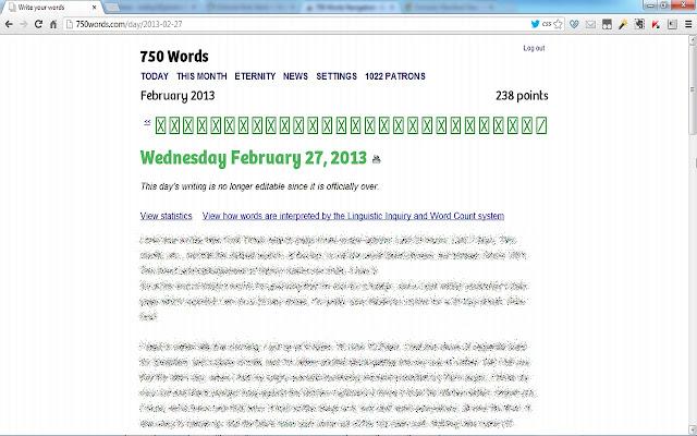 750 Words Navigation
