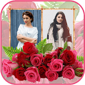 Flower Dual Photo Frame - Photo Editor