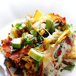 """Chicken Enchilada Casserole (a.k.a """"Stacked Chicken Enchiladas"""")"""