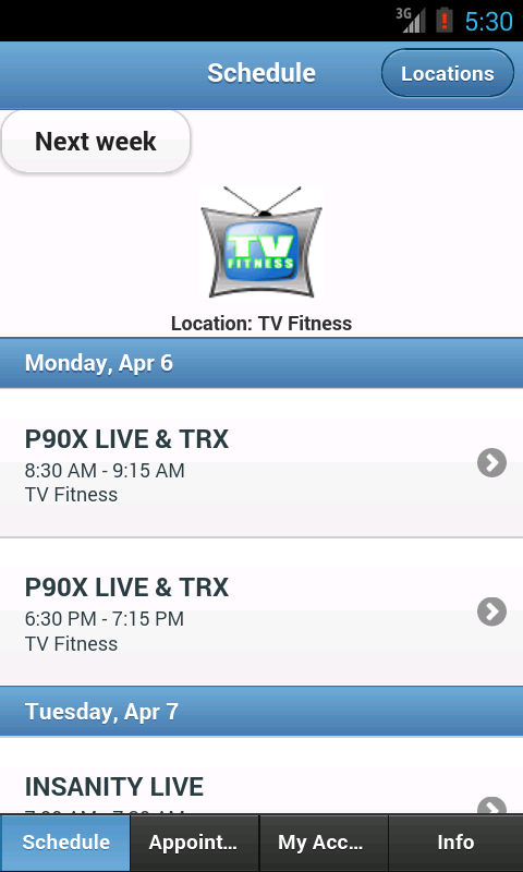 TV Fitness- screenshot