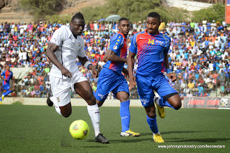 Photo: Alhassan 'Crespo' Kamara [vs. Cape Verde, June 2013 (Pic: Darren McKinstry)]
