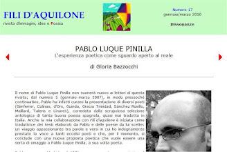 """Photo: Poemas de """"Los ojos de tu nombre"""" en italiano traducidos por Gloria Bazzocci, Fili d'Aquilone (filidaquilone.it/num017bazzocchi.html), ene-mar 2010"""