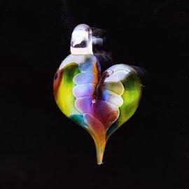 Tear drop heart.  by Cristina Duarte - Novices Only Objects & Still Life ( heart, tear drop heart, glass )