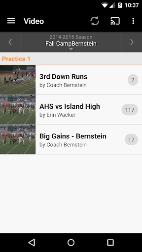 Hudl screenshot