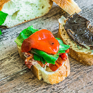 Portobello Sandwich with Basil-Dijon Mayo