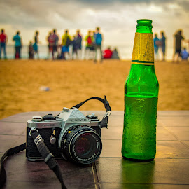 On Vacation... by Biswajit Mandal - Food & Drink Alcohol & Drinks ( beach, sunset, vacation, holiday, summer )