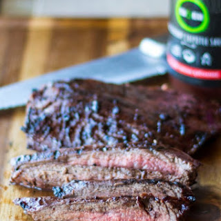 Grilled Flank Steak with Blackberry Chipotle Sauce.