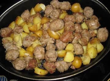 Kielbasa & Potato Oven Bake