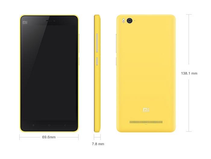 Xiaomi Mi 4i Dimension