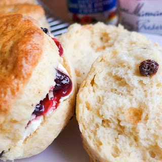 Classic British Scones with Currants
