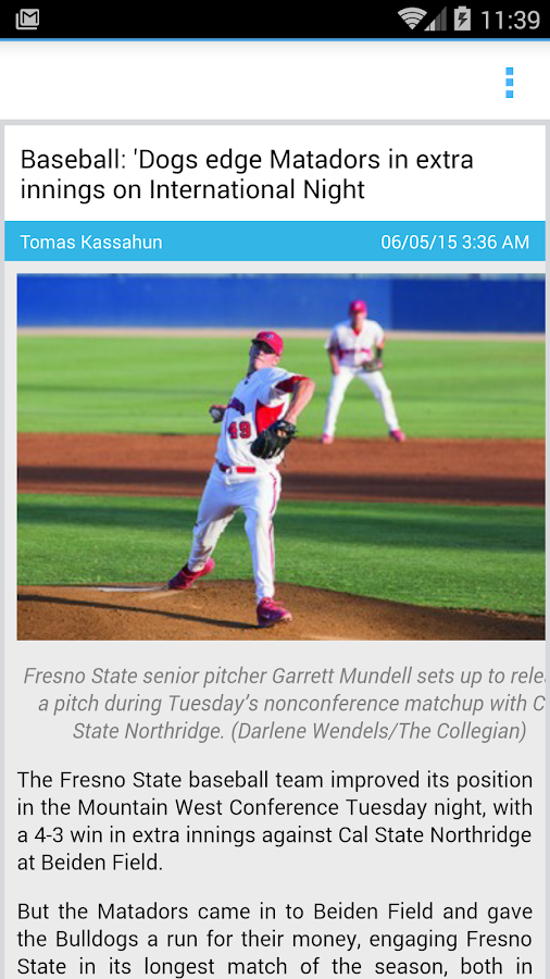 Fresno State Collegian- screenshot