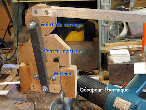 """Photo: Montage pour réaliser les """"Clamps""""(supports) , voir explication par Daniel F5DM sur le site du RC F5KCK http://www.f5dm.fr/clamps/index.html"""