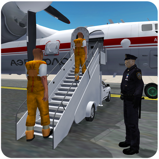 Jail Criminals Transport Plane - Police Plane Game icon