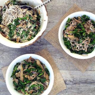Creamy Kale & Mushroom Soba Noodles [vegan]