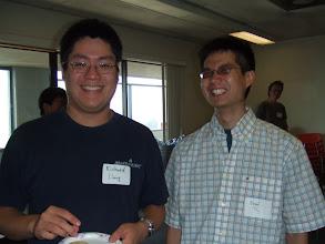 Photo: Richard and Daniel - way too happy officemates