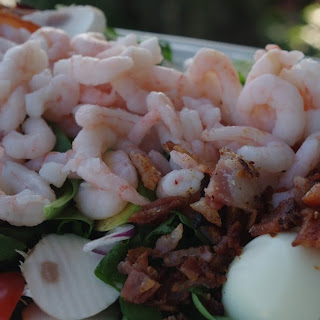 Shrimp Salad with Blue Cheese Dressing