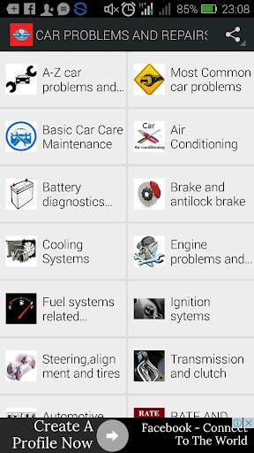 CAR PROBLEMS AND REPAIRS  screenshots 1