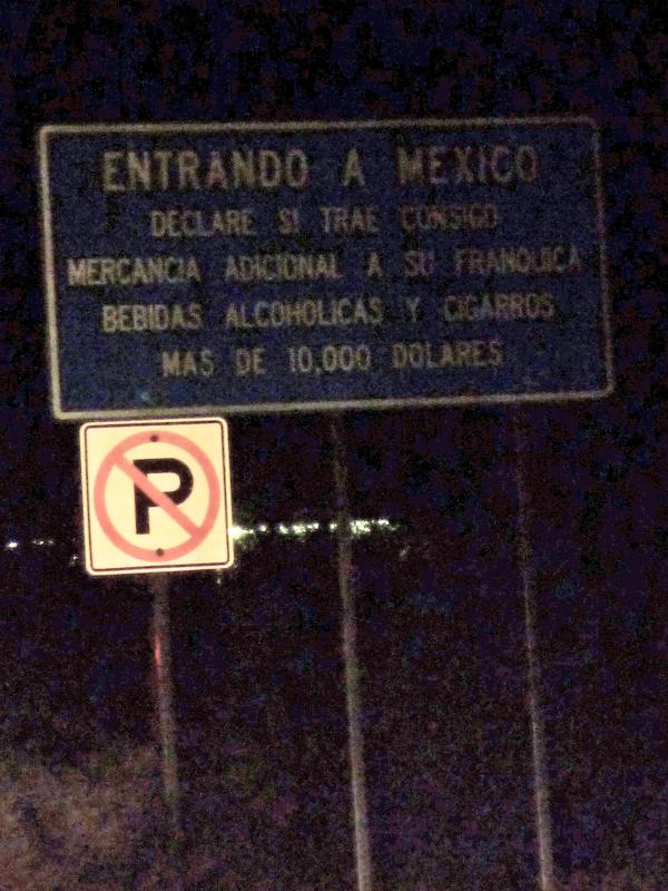 Photo: Entering Mexico!