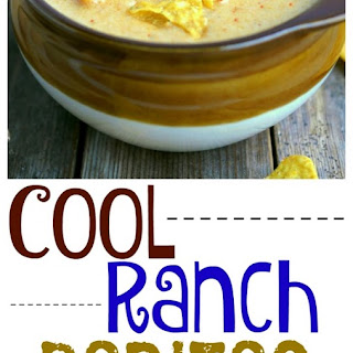 Cool Ranch Doritos Cheese Soup.