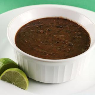 Tangy Black Bean Soup Slow Cooker