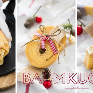 "German Tree Cake ""Baumkuchen""."