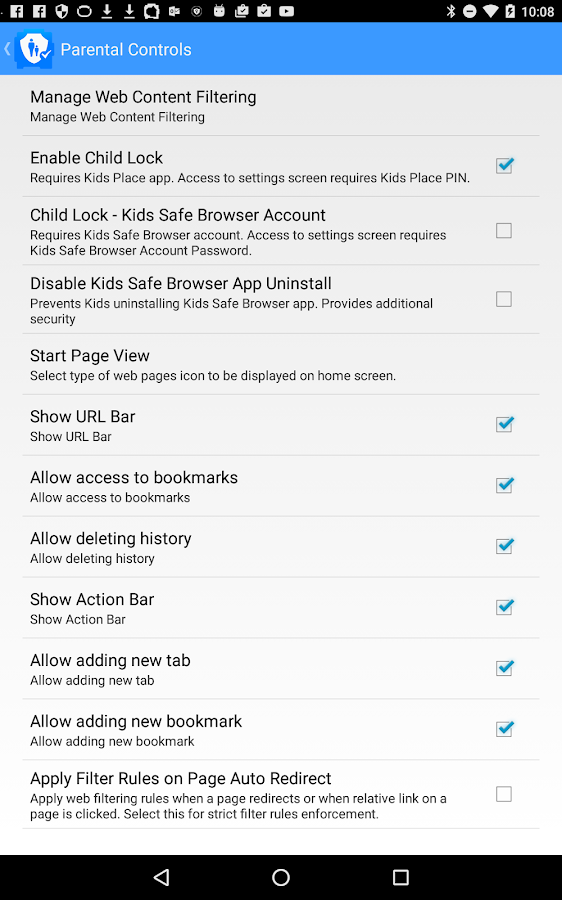Safe Browser Parental Control- screenshot