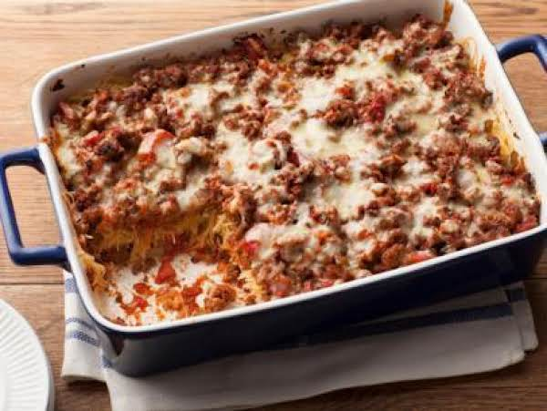 Bean&beef Spaghetti Pie Recipe