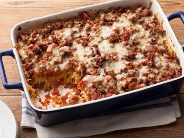 Bean&beef Spaghetti Pie Recipe