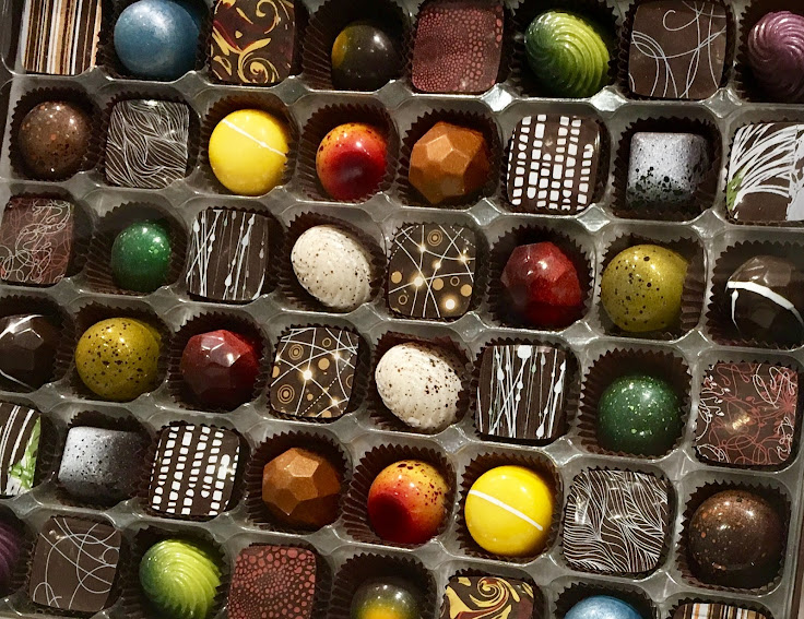 An eye-catching box of chocolates.