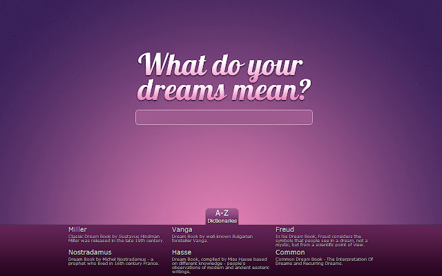 What Do Your Dreams Mean Chrome Web Store
