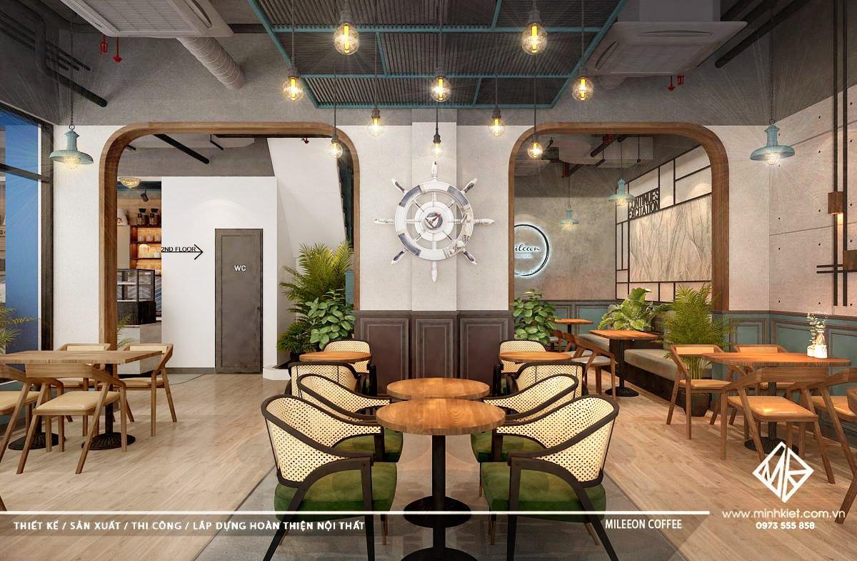 Thiết kế quán cafe đẹp cao cấp