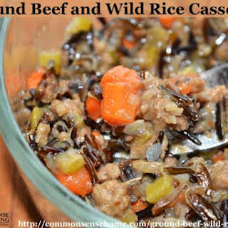 Ground Beef and Wild Rice Casserole.