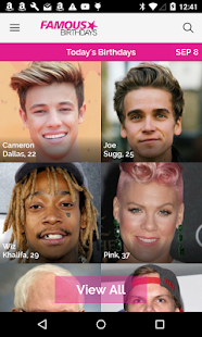 Famous Birthdays- screenshot thumbnail