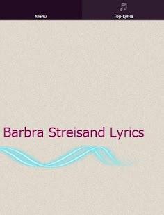 Barbra Streisand Coloring Book Lyrics : Barbra Streisand Lyrics Android Apps on Google Play