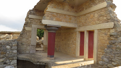 Photo: Reconstructions at Knossos