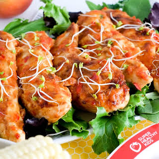 Sweet & Tangy Peach BBQ Chicken Tenders.