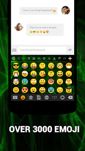 Emoji Keyboard Cute Emoticons - Theme, GIF, Emoji Screenshot