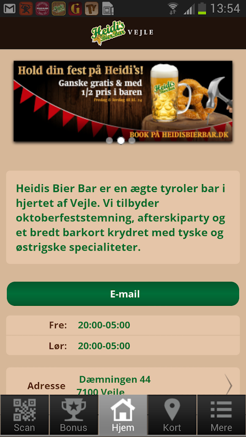 Heidi's Bier Bar Vejle- screenshot