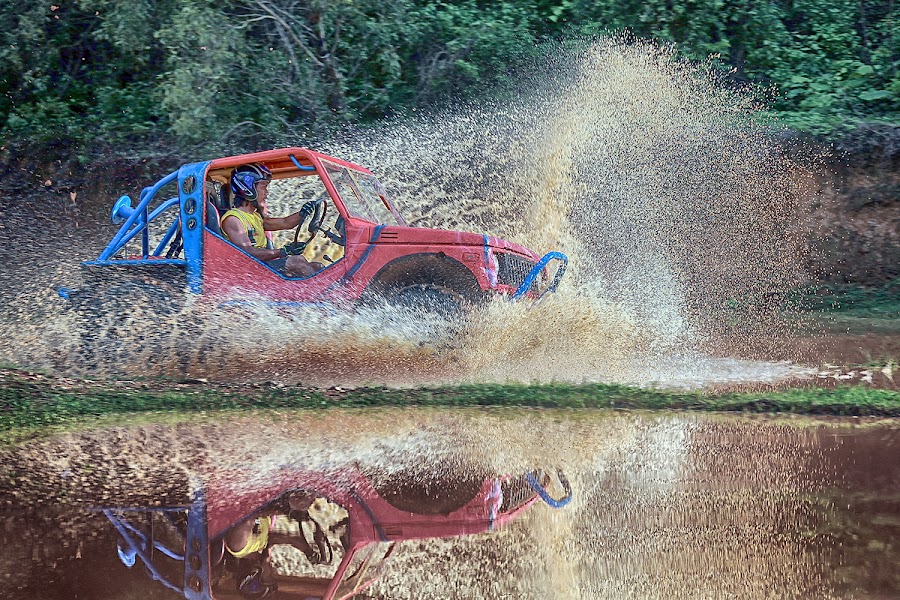 Offroad by Amril Nuryan - Transportation Automobiles ( car, extreme, splash, offroad, yellow, race )