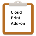 Simple Notepad Cloud Print Add icon