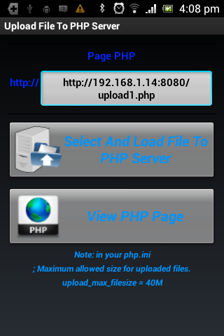 Upload File To PHP Server