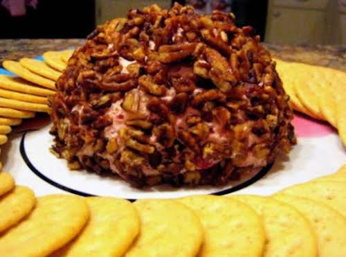 "Cranberry Orange Cheese Ball w/ Caramelized Pecans ""It is sweet and tart...."