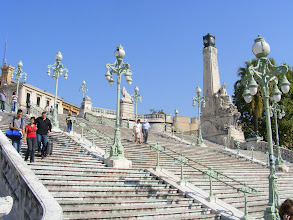 Photo: The station opened in 1848, and is well known for this massive staircase leading to the city center.