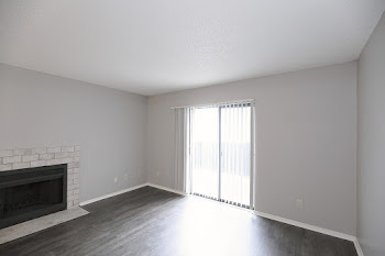 Go to One Bedroom with Fireplace Floorplan page.