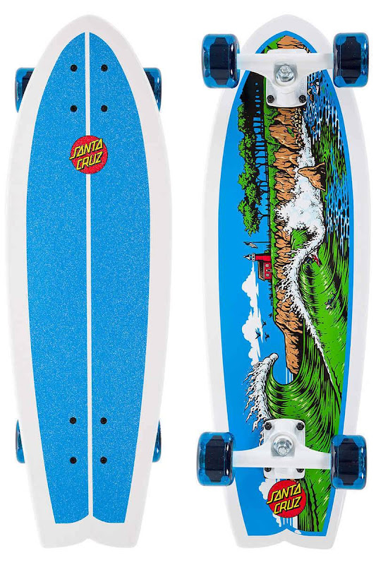 SANTA CRUZ - The Point Land Shark Cruiser Skateboard